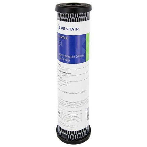Pentek 10 hüvelykes vízszűrő C1 aktív szén / cellulóz 5μm