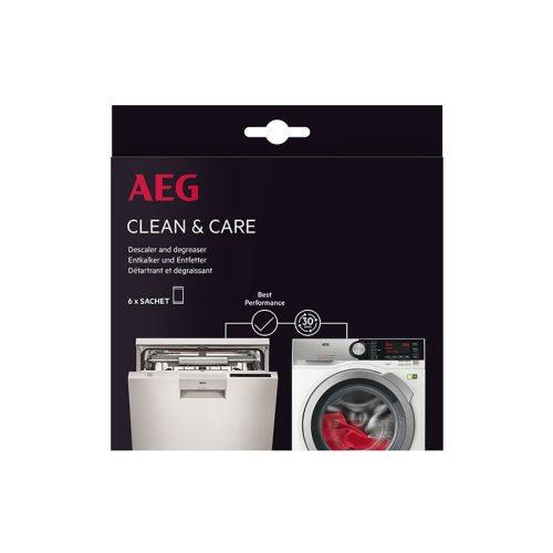 AEG Clean & Care vízkőmentesítő és zsírtalanító 9029798049 mosógépekhez és mosogatógépekhez (6 zsák csomag)