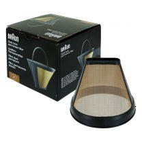 Állandó kávésszűrő aranyszínű rozsdamentes acél hálóból BRSC002